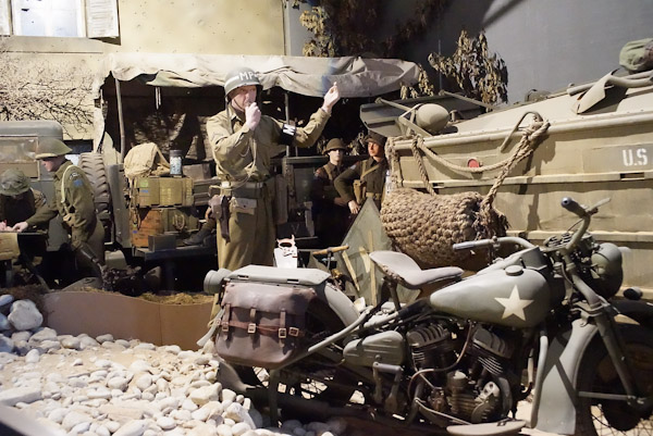 We head toward Omaha beach and stop at a small but fantastic museum full of WW2 relics. It was so well done.
