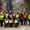 First MAPTS underground mine training graduates from Yukon College. Photo by Monique Musick, UA Public Affairs