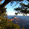 Sunset view from near Bright Angel Peak on North Rim