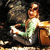 Jenny, hike up Algonquin w Daddy, june 1975