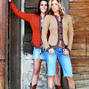 Two Cowgirl Models in Cowboy Boots