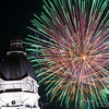 Fireworks and courthouse