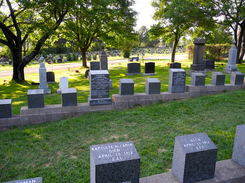 "Many Titanic graves were located here.  A grave marked ""J. Dawson"" gained fame following the release of the 1997 film Titanic, since the name of Leonardo DiCaprio's character in the film is Jack Dawson."