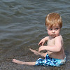 Shane Tucker takes a moment to check on his parents as he enjoys the lake water in Vermilion on Labor Day. photo by Ray Riedel