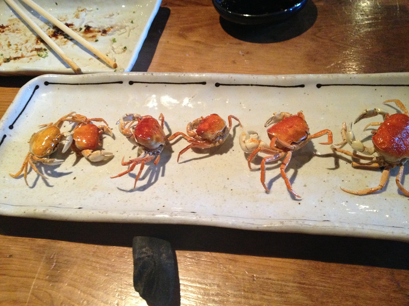 An appetizer at Raku.  Just pop the entire thing in your mouth.  It was delicious!  (Yes, really.)