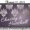 8-31-14 Chasity and Hurshell Wedding logo