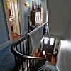 Innkeeper, Mary Dugan, giving a tour and talking about the Lyttleton Inn which she runs in Littleton, here is a view of the stairway.  SUN/ David H. Brow