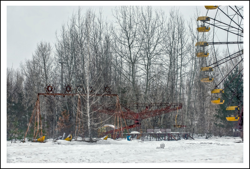 The amusement park at Pripyat, Ukraine, inside the 30-kilometer Chernobyl Exclusion Zone.