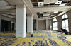 Carpet installers at work in the ballroom at the Marriott Courtyard hotel in Kulpsville.   Wednesday,  July 2, 2014.  Photo by Geoff Patton