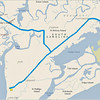 Route for 17 Dec Sightseeing (1) Hunting Island State Park; (2) Fort Fremont & Chapel of Ease; (3) Historic Beaumont Waterfront