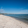 Sugar white sand beach and Pensacola Bay fronting Oak Grove Park @ NAS Pensacola. 11 Dec 2013