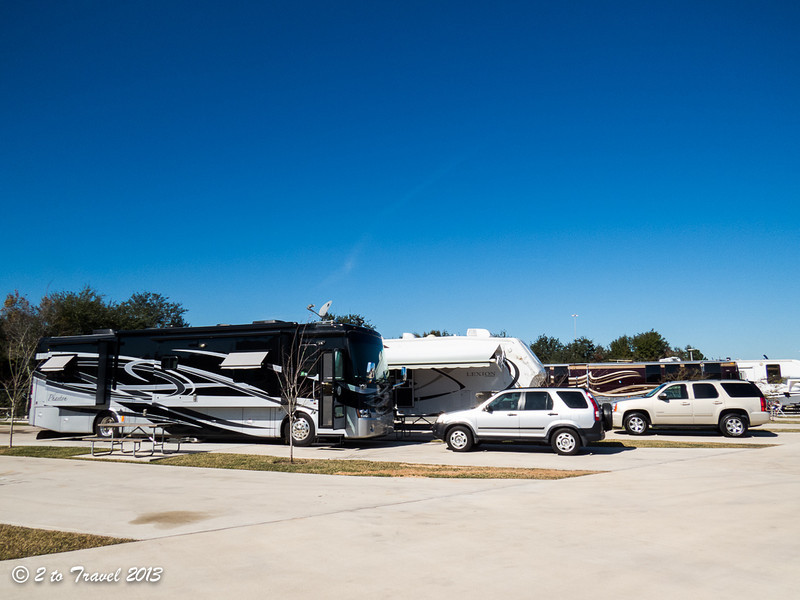 Phaeton at the Advanced RV Resort in Houston, Texas. 17 Dec 2013