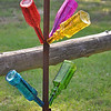 Been feeling bad..got one of those dreaded summer colds!! I got me some new pretty bottles for my bottle tree..I love the colors!