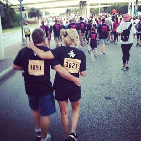 Mom and Donnie at Race for Cure - 10-06-12