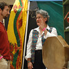JosŽ Quezada/For the Times-Standard<br /> <br /> Brenda R. Bryan, a Sacred Artist and Spiritual Life Coach, discusses drum making with Levon Durr of Freshwater.<br /> <br /> There was a whole lot of healing arts, massage and Reiki sessions, artists with energy focus, live harp music and just plain good vibes emanating from the Arcata Community Center as the 5th annual Synergy Fair opened on Saturday. The fair continues today.