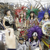 Shaun Walker/The Times-Standard<br /> <br /> Aztec dancers pose after performing at the Northwest Intertribal Gathering and Elder's Dinner at Redwood Acres in Eureka on Saturday.