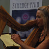 José Quezada/For the Times-Standard<br /> <br /> Kathe Lyth plays soothing Celtic music on her harp for the New Age enthusiasts assembled in Arcata on Saturday.<br /> <br /> There was a whole lot of healing arts, massage and Reiki sessions, artists with energy focus, live harp music and just plain good vibes emanating from the Arcata Community Center as the 5th annual Synergy Fair opened on Saturday. The fair continues today.
