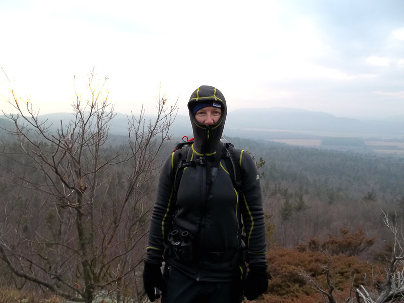 Me in Frogman outfit at Champlain Valley lookout - Split Rock Mountain