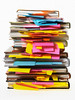 P6.6 New photo of post-it notes<br /> Choice 3 of 8<br /> <br /> Stack of textbooks with post-it notes in pages, studio shot --- Image by © Ocean/Corbis