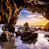 Nikon D810 HDR Photos Malibu Sea Cave Sunset, Dr. Elliot McGucken Fine Art Photography!  14-24mm Nikkor Wide Angle F2.8 Lens