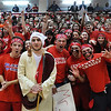 Central Catholic's faithful fans cheer for their team. 2/19/2014.