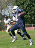 Glen Mills met up with Penn Wood at Kerr field on Da, October 18, 2014. The final score of the football game was 41-14. Dasheim Harris runs with the ball. Photo by Anne Neborak Delco News Network