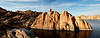 Island on Watson Lake in Prescott Arizona