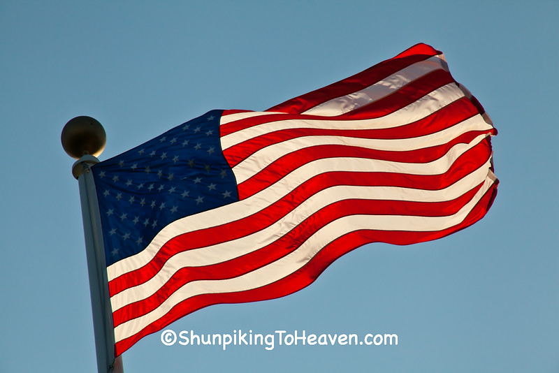 United States Flag at Stony Hill School, Birthplace of Flag Day, Oaukee County, Wisconsin