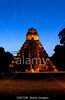 Fig 11.23 / Tikal Temple at nighttime  Choice  3 of 11  CN57GM Tikal's Temple I at sunrise lit by a floodlight.