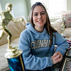 Hamilton: Emily Lanois, a senior cross country star at Hamilton-Wenham High School, who was heavily recruited by Ivy League Schools, has chosen to attend Columbia University in New York City. Photo by Deborah Parker/Salem News Friday, January 16, 2009.