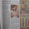 Artist Sona Mirzaei featured in the West Hollywood Independent newspaper.