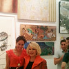 Lengendary comedian and celebrity Joan Rivers at Sona Mirzaei's abstract show.