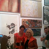 Joan Rivers and artist Sona Mirzaei at Wallspace LA gallery.