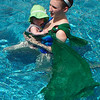 DIY Mesh Sling Tutorial by Christina D - Here's 6-month-old Maggie D. enjoying my parents' pool from her sling!