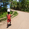 Haiti water bucket girl