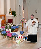Blessing of the Easter Baskets Sacred Heart Catholic Church Father John Putnam 040712 (1)