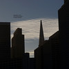Sunset behind the TransAmerica Building.