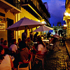 Cafe at dusk in Old San Juan