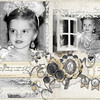 Shabby Blanc Collection Biggie Shabby Blanc Pennant Embellishments Ornate Petite Frame Embellishments - Silver ScrapSimple Tools - Actions: Basic Photos Parisian Collection Biggie ScrapSimple Paper Masks Grungy Stencils Jubilant Collection Biggie