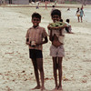 Kids selling fruit on the beach. Near Colombo, Sri Lanka.