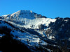 Snowy Mountain near Emmentton, Switzerland