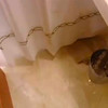 Great bathroom floor {color and material}