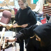 Sarah and Sam cut dados on the table saw