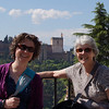 With my mom, with the Alhambra in the background