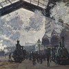One of several painting Monet did of Paris Gare St. Lazare train station.