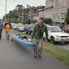 Interview Man Walking Kayak