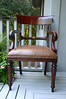 Set of 8 Maitland Smith arm chairs