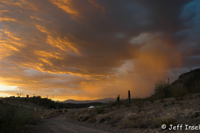 Storm clouds at sunset, July 4, 2014 at Lake Pleasant - before the storm hit, canceling the fireworks.