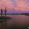 Sunset at the Fountain lake in Fountain Hills, June 12, 2014