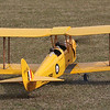 DH 82a taxis out. Representing DH82a Tiger Moth,VH-UVZ, built by de Havilland Aircraft Pty Ltd, s/n 3508 in 1936. First registered in Australia 12th August 1936. Currently owned by TEMORA AVIATION MUSEUM INC